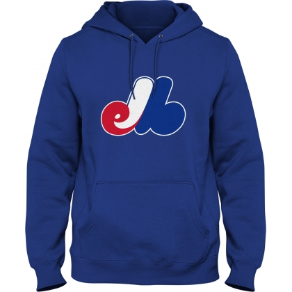 Montreal Expos MLB Royal Blue Express Hoodie
