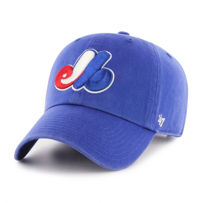 Montreal Expos Clean Up Adjustable Cap Blue 47 Brand