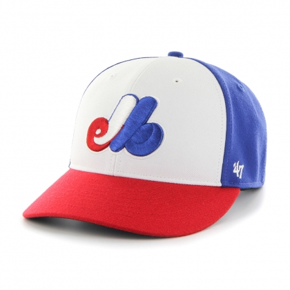 Montreal Expos Cooperstown Tri Color Bullpen Hat 47 Brand