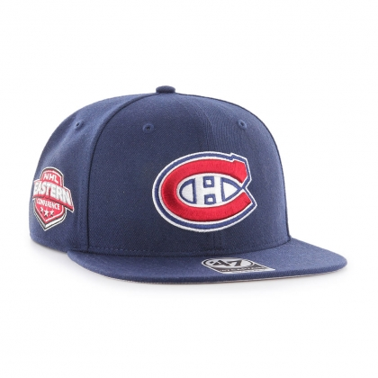 Montreal Canadiens Sure Shot Navy Captain Vintage Snapback Hat
