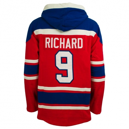Maurice Richard Montreal Canadiens Alumni Heavyweight Lacer Hoodie