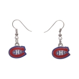 Montreal Canadiens Logo Pendant Earrings