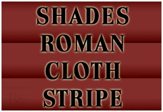 SHADES ROMAN CLOTH STRIPE