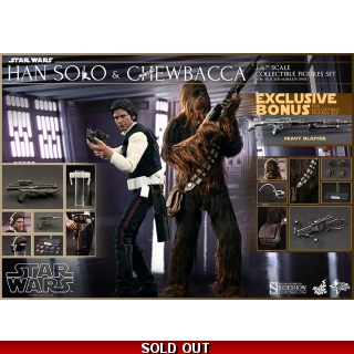 Hot Toys Star Wars 1/6 Han Solo and Ch..