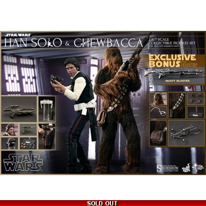 Hot Toys Star Wars 1/6 Han Solo and Chewbacca Exclusive Double Pack