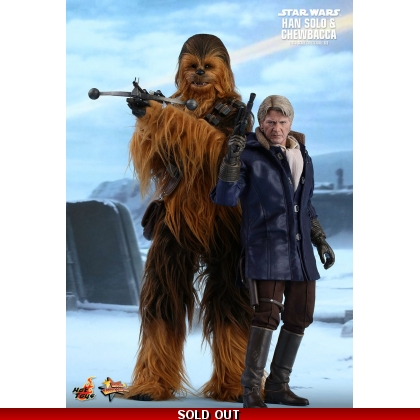 Hot Toys Star Wars: The Force Awakens - 1/6th scale Han Solo & Chewbacca Collectible Figures Set