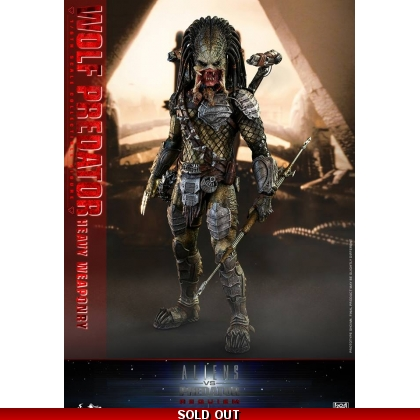 Hot Toys Alien vs. Predator: Requiem 1/6th scale Wolf Predator Heavy Weaponry Collectible Figure