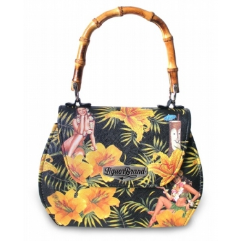 Tiki Time Bamboo Handle Handbag