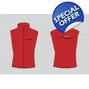 2014 MENS RED Soft Shell Gilet
