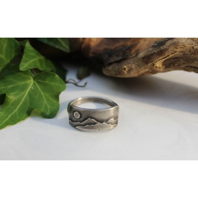 Sterling silver unisex ring,..