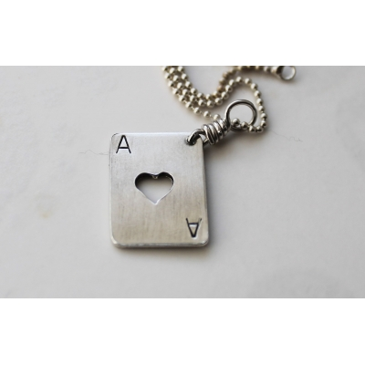 Silver Ace of Hearts un..