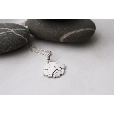 Tattoo Inspired Simple Rose Pendant