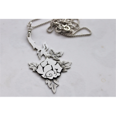 Rose Stem Sterling Silv..