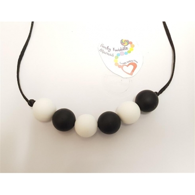19mm round bead Monochrome silicone high sensory necklace