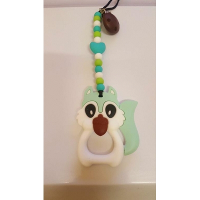 Squirrel mint teething clip sling breastfeeding nursing distraction toy SILICONE COPY