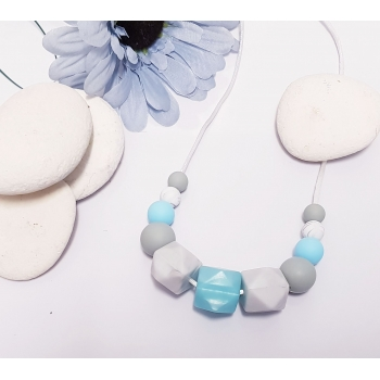 Blues Nursing Teething Breastfeeding Necklace silicone