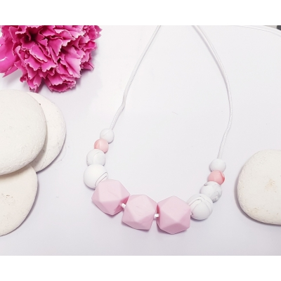 Pinks Nursing Teething Breastfeeding Necklace silicone