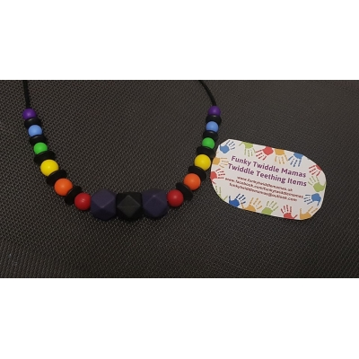Rainbows Nursing Teething Breastfeeding Necklace silicone