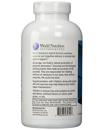 World Nutrition Vitalzym ™  450 Capsules