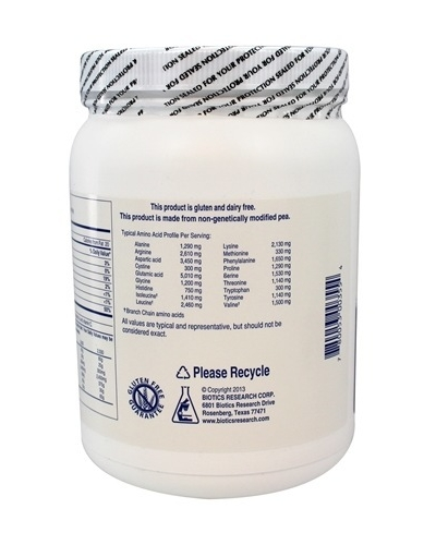 Pea Protein Isolate 22OZ Biotics Research