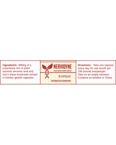 Nervidyne: Nervonic acid myelin support 30 ct - By Remedylink