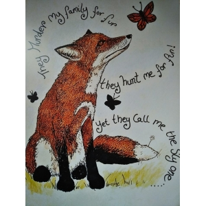 Sly fox Poster approx 39/28 ..