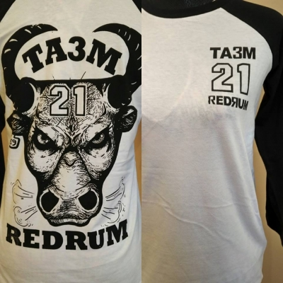 TA3M 21 REDRUM baseball with angry bull