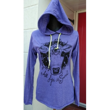 SACRED COW SLEEVED HOODED LA..