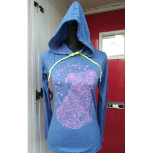 Staffy long sleeved hooded t..