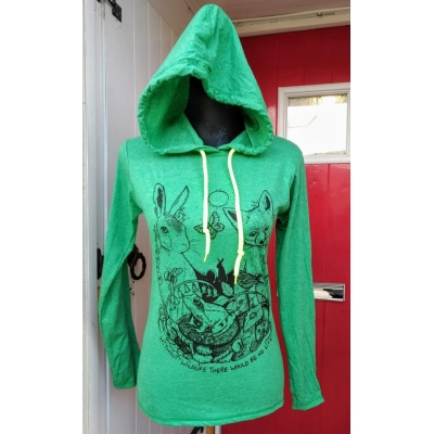 Without wildlife long sleeved hooded tee