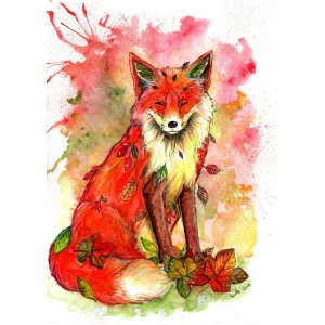 Full Colour Autumn Fox t-shirt