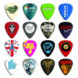 50 X Custom Printed Guitar Picks Printed With Your Design