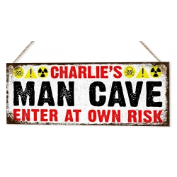 Man Cave Sign With Personalised Name