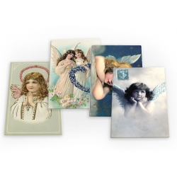 Angels Vintage Cherubs Christian 4 X Fridge Magnets A