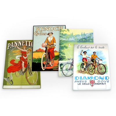Bike Cycling Bicycle Vintage Ride Set D 4 X Fridge Magnets B