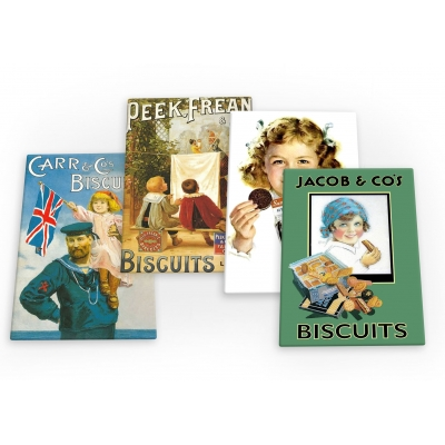 Biscuits & Cookies Vintage 4 X Fridge Magnets B