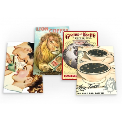 Coffee Vintage 4 X Fridge Magnets A