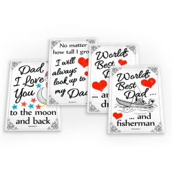 Dad Daddy Fathers Day 4 X Fridge Magnets A