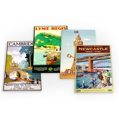 England Vintage Travel 4 X Fridge Magnets B