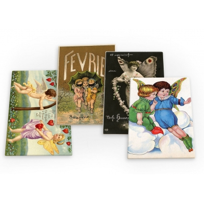 Fairy Fairies Vintage 4 X Fridge Magnets A