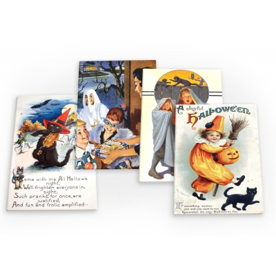 Halloween Vintage 4 X Fridge Magnets B