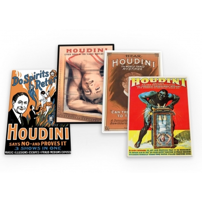Houdini Vintage Magic Mystical 4 X Fridge Magnets B