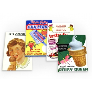 Ice Cream Treats Vintage 4 X..