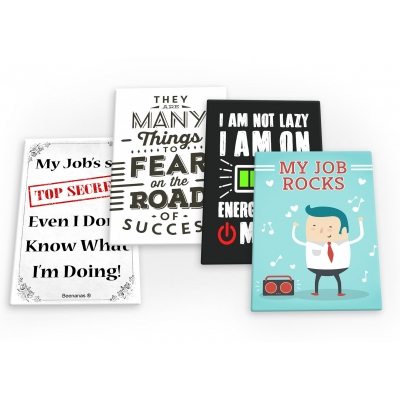 Job Work Funny 4 X Fridge Magnets B