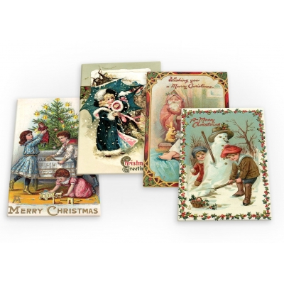 Merry Christmas Xmas Santa Noel Set B 4 X Fridge Magnets A
