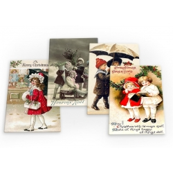 Merry Christmas Xmas Santa Noel Set B 4 X Fridge Magnets B