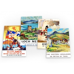 Scotland Vintage Travel 4 X Fridge Magnets A