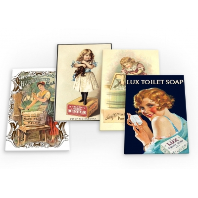Soap Vintage Set B 4 X Fridge Magnets B