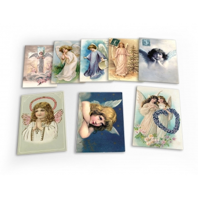 Angels Vintage Cherubs Christian 8 X Plastic Poster Fridge Magnets