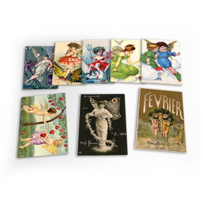 Fairy Fairies Vintage 8 X Plastic Poster Fridge Magnets